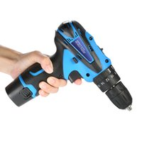 Wholesale Electric Screwdriver Cordless - 12V Lithium-Ion Electric dremel drill Two-speed rotary tool Power tools Electric drill Rechargeable Cordless Screwdriver Drill