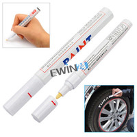 Wholesale Marker Pen Inks - Car Permanent Marker Tire Pen Motorcycle Bike Wheel Universal Graffiti Pen Fast Drying Ink Waterproof White Permanent Markings Box of 1000