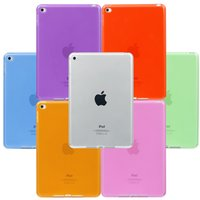 Wholesale Back Cover For Ipad - Ultra Thin Candy Color Crystal Clear Transparent Soft TPU Protective Back Case Cover For iPad 2 3 4 5 6 Pro 9.7 inch Mini Mini4