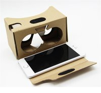 Wholesale 3d passive - Google 2 2.0 Version Cardboard Glasses DIY 3D VR Boxes Virtual Reality V2 Viewing Carton Google Glasses for iphone 7 6s 6 plus Samsung s7 s8