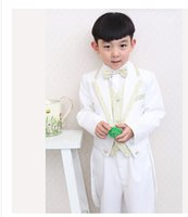 Wholesale Groom Girl Suit - 2015little boy kids groom suit Children tuxedo Flower girl dress the boy suit wedding dress show stage