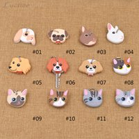 Wholesale Cute Key Caps - Cute Lovely Puppy Pug Cat Rabbit Soft Rubber Key Cover Cap Keychain Key Ring Single Side