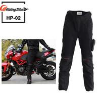 genouillères achat en gros de-Livraison gratuite PR0-BIKER moto course costume pantalon moto équitation vêtements chute résistance course pantalon avec des genouillères