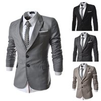 Wholesale Small Korean Jacket Coat - Wholesale-fashion korean stylish small suit for men casual fit suit outerwear Unique design blazer coat men jackets Black US. XS-L