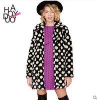 Wholesale Marten Collars - 2016 Faux fur coat imitation mink marten overcoat female medium-long hooded Jacket outerwear sobretudos compridos branco