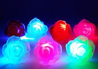 Wholesale flashing led flower for sale - Group buy Free Ship Led Light Up Flashing Soft Rose Flower Bubble Elastic Ring Rave Party Blinking Soft Finger Lights