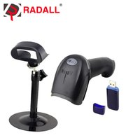 Wholesale Laser Bracket - Wholesale- RD-1908 with stand 1d laser bar code scanner supermarket wireless scanner code bar reader with bracket  stand