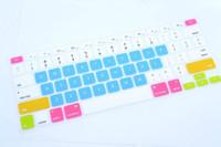 teclado macbook impermeable al por mayor-Multi-colores Cartas Silicona Teclado Protector de Piel Cubiertas Para Tablet PC Macbook Y Alta Calidad A Prueba de agua KL4C28