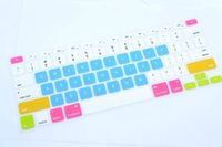 Wholesale Tablet Computer Covers - Multi-colors Letters Silicone Keyboard Skin Protector Covers For Macbook Tablet Computer And Waterproof High Quality KL4C28