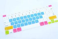 clavier macbook étanche achat en gros de-Multi-couleurs Lettres Silicone Clavier Protecteur de La Peau Couvre Pour Macbook Tablet Computer Et Étanche Haute Qualité KL4C28