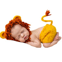 Wholesale Bebe Gown - Soft Handmade Crochet Baby Hat Newborn Photography Props Set Bebe Knitted Fotografia Costume 0~12 Months