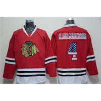 Wholesale Sport Flags For Cheap - Red Blackhawks #4 Niklas Hjalmarsson USA National Flags Edition Fashion Hockey Jerseys Brand Sports Uniforms Cheap Athletic Wears for Men