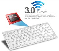 Al por mayor-mini portátil de la disposición del teclado inalámbrico Bluetooth 3.0 para ordenador PC portátil Tablet Android Móvil y 10pc Para Macbook iPad