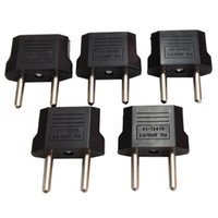 Wholesale Eu Contact - Universal USA Travel Plug Adaptador EU To US Plug Adapter Converter AC Power Electrical Plug Connector contacts 4.8 mm 3000pcs lot