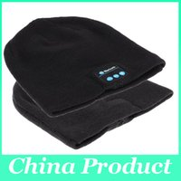 Wholesale Nice Hats For Men - Nice winter knitting Bluetooth Music Hats for women men with Wireless Stereo Microphone Headphone Hands-free Mic Headset Speaker