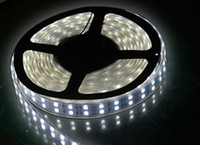 Wholesale Double Rows Waterproof Led Strip - Double Row IP65 LED Strip 5m SMD 5050 600 LED Ribbon Tape Light Waterproof for Party Holiday Lighting Decor Christmas Strips RGB Warm white