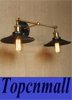 retro two swing arm wall lamps sconces iron shade painted finish rh restoration light fixturewall mount swing arm lamps lyh95