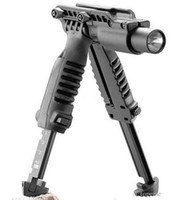 Wholesale rail mounted flashlight - Tactical T-POD 3 in 1 Foregrip Bipod picattinny rail with torch mount Flashlight Light Holder or 21mm Rifle with no marking FAB Defen