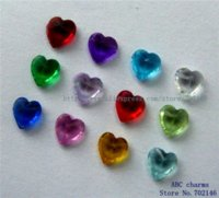 Wholesale Cheap Locket Charms - 60pcs 5mm Mix Color Heart Birthstone Floating charms for Living Memory Floating locket Charms Cheap Charms