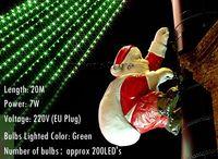 Wholesale Twinkle Lights Sale - Wholesale-Hot Sales 2015 Christmas Decoration 20M 200 LED Lights Festival Twinkle Lamp Bulb With Tail Plug 220V EU