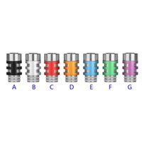 Wholesale Ee2 Electronic Cigarette Atomizers - E cig 510 King SS Drip Tips EGO King Letter Metal Drip Tips Mouthpiece for EE2 Vivi Nova DCT Atomizer Electronic Cigarette Skull Drip tips