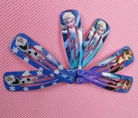 Wholesale vapes Factory price Frozen Anna elsa Girl Headwear Female Hair Accessory Wafer Side knotted Clip Hairpin