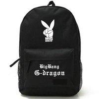 coelho dragão venda por atacado-Ir para cima mochila Bigbang saco de escola de coelho G Dragon daypack Grupo de música mochila Mochila ao ar livre Pacote de dia de esporte