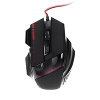 Wholesale Gaming Mouse Lights - 3200 DPI 7 Buttons LED Optical Game Mouse USB Wired Gaming Mouse with Breathing Lights Triple Fire Key for Pro Gamer DHL C2093