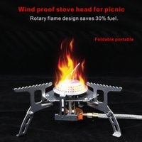 Wholesale Under Pressure - Wind proof stove head Hiking Camping for picnic equipment Foldable portable High magnetic pressure ignition device.