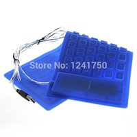 Gros-85-Key USB 2.0 silicone pliable ordinateur PC Wired Keyboard -bleu