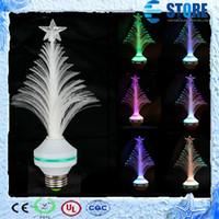 Wholesale Multi Changing Christmas Trees - Multi Colors Changing Christmas Tree Style LED Lamp, Changing color LED night light lamp,Free shipping,A