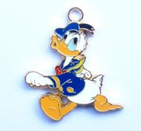 Wholesale Donald Duck Charms - wholesale Free shipping 20pcs Donald Duck DIY Metal Charms Jewelry Making pendants