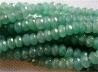 Wholesale Loose Natural Emerald Gemstone - 5x8mm Natural Faceted Emerald Abacus Loose Beads Gemstone 15'' AAA