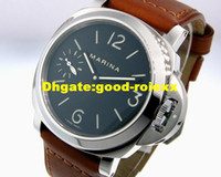 Wholesale Pam Hand - New Products Mens Watch Auto Date Mechanical Pam 111 Steel Men's Leather Dive Watches