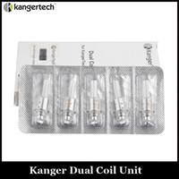 Wholesale e cig atomizer clone for sale - Group buy Upgraded Kanger Dual Coil Heating Core Atomizer Core E Cig Kangertech Coils Head Clone For Protank Mini Protank3 Aerotank EVOD Atomizer