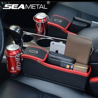 Seggiolino auto Crevice Storage Box Tazza Drink Holder Organizer Auto Gap Pocket Stow Riordino per Phone Pad Card Coin Case Accessori