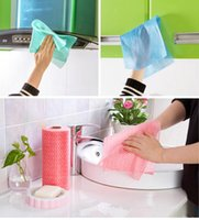 Wholesale Rag Fabric - 50Pcs Roll High Efficient Environmental Colorful Washing Dish Towel Kitchen Accessories Cleaning Cloth Wiping Rags Towel