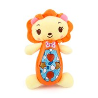 Wholesale- Cartoon Peluche Lion Lovely Clever Little Lions Toy Dolls con luci musicali Hobbys Regalo di compleanno per bambini