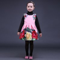 Wholesale Prom Dresses 24 - Pettigirl Retail Pink Rose Girls Christmas Tutu Dress Fashion Sleeveless Girls Prom Pleated Dresses Baby Kids Clothing GD80928-24