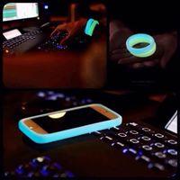 Wholesale S4 Bumper Retail - Luminous Bumper Wrist Bracelet Soft Rubber Case Universal Band with Retail Packaging for iPhone 6G 6 Plus 6+ 5S 5 5C 4S Samsung S4 S5