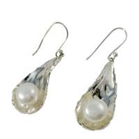 Wholesale online sterling silver - Women Elegant Pearl Chandelier Earrings for E1234 Silver Dangle Earrings Unadjustable 8.6 g Vintage Anniversary Earrings Online