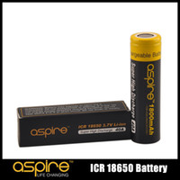 Wholesale Icr Batteries - 100% Original Aspire ICR 18650 Battery Protected 3.7V Li-ion 1800 2600mah 40 20A High Discharge Current Batteries