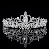 ingrosso tiara di nozze del fiore del diamante-L'edizione Han Crown Diamond Wedding Dress Copricapo Accessori Fiore Accessori per capelli da sposa all'ingrosso Produttore Diademi