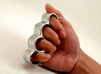 Épais Dents Pas Cher-10PCS CHROMED STEEL BRASS KNUCKLES KNUCKLE DUSTER Self Defense Protection Gear DHL FEDEX Livraison gratuite