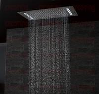 kabarcık kafaları toptan satış-Lüks Banyo LED tavan Duş Başlığı Aksesuarları SUS304 700x380mm Fonksiyonları Yağmur Şelale Mist Kabarcık Duş DF5422