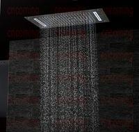 Luxury Bathroom LED ceiling Shower Head Accessories SUS304 700x380mm Functions Rain Waterfall Mist Bubble Shower DF5422