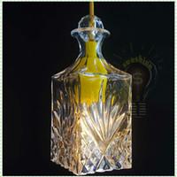 Wholesale decorative art vase for sale - Silicon Rubber crystal glass vase decorative pendant lamp giving edison classical incandescent lights