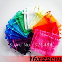 Wholesale Organza Bags 16x22cm - Mixed Color 16x22cm 1000piece jewelry wedding organza bag gift pouches