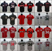Wholesale Quick Delivery - 2017 Men's Washington#34 Bryce Harper Baseball Jerseys White Red Grey Black Orange Felx Base Cool Base Authentic Player Jersey Fast delivery