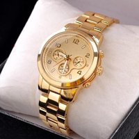 Wholesale Lover Watches Sale - Hot sale michaelkross Brand Gold Plated Stainless Steel fashion Quartz Movement Mens Wrist Watch for Man Free Shipping